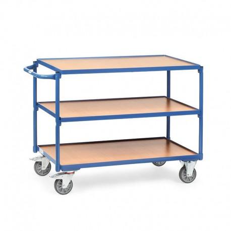 Tischwagen mit 3 Etagen - Hoher Rand