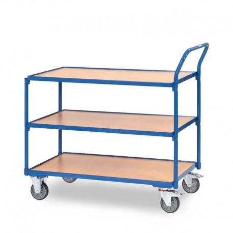 Tischwagen mit 3 Etagen - Griff hochstehend