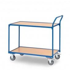 Tischwagen mit 2 Böden - Griff hochstehend