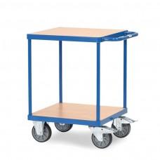 Tischwagen mit 2 Böden - 600 x 600 mm Holz-Plattform