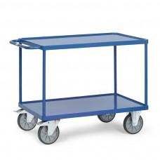 Tischwagen mit 2 Stahlblech-Wannenrand