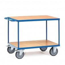 Tischwagen mit 2 Böden - Ladefläche wählbar