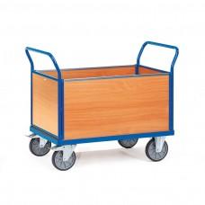 Holzwand-Vierwandwagen mit Wänden aus Holz
