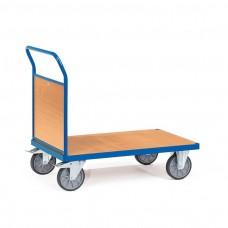 Transportwagen mit Stirnwand aus Holz